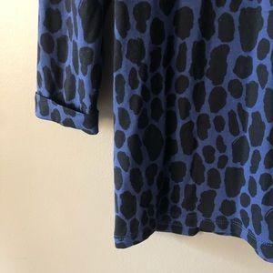 d9217f52a8a1 Boden Tops | Blue Black Animal Print Blouse Top Shirt 6 | Poshmark